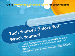 Tech Yourself Before You Wreck Yourself PowerPoint PPT Presentation