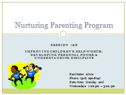 Session 7&8 Improving Children's Self-Worth;