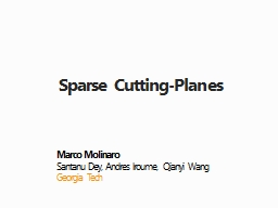 Sparse Cutting-Planes Marco