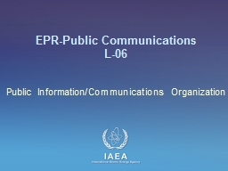 EPR-Public Communications