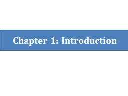 Chapter 1: Introduction Contents