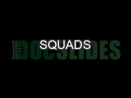 SQUADS #4 Learning Intentions