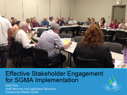 Effective Stakeholder Engagement