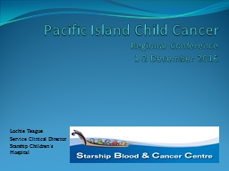 Pacific Island Child Cancer