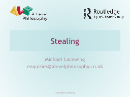 Stealing Michael Lacewing