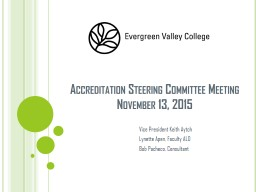 Accreditation Steering Committee Meeting