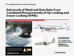 Retrievals of Wind and Rain Rate from Combined Measurements of Up-Looking and Down-Looking SFMRs