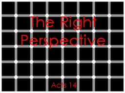 The Right Perspective Acts 14 PowerPoint PPT Presentation
