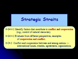 Strategic Straits - Targets of