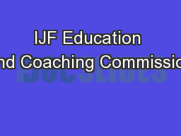IJF Education and Coaching Commission