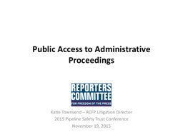 Public Access  to Administrative
