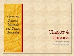 Chapter 4 Threads Seventh Edition