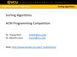 ACM Programming Competition