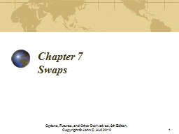 Chapter 7 Swaps Options, Futures, and Other Derivatives, 8th Edition, Copyright � John C. Hull 201