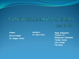 Entrance Security System