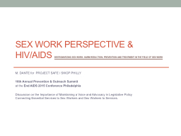 Sex Work PERSPECTIVE & PowerPoint PPT Presentation