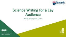 Science Writing for a Lay Audience