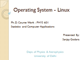 Operating System - Linux