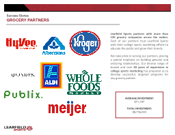 GROCERY PARTNERS Success Stories