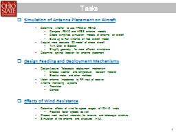 Tasks Simulation of  Antenna Placement on PowerPoint PPT Presentation