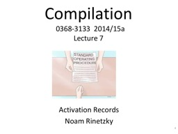 Compilation   0368-3133  2014/15a