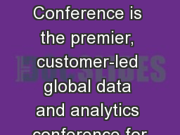 Teradata PARTNERS Conference is the premier, customer-led global data and analytics conference for