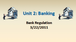 Unit 2: Banking Bank Regulation