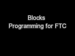 Blocks Programming for FTC