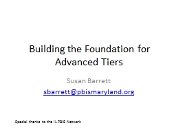 Building the Foundation for Advanced Tiers