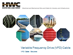 Variable Frequency Drive (VFD) Cable