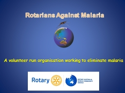 Rotarians Against Malaria