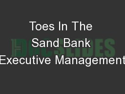 Toes In The Sand Bank Executive Management