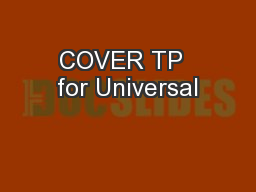 COVER TP  for Universal
