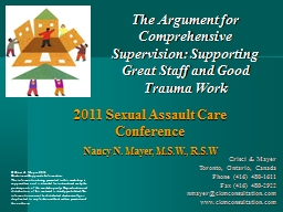 The Argument for Comprehensive Supervision: Supporting Great Staff and Good Trauma Work