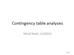 Contingency  table analyses