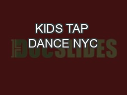 KIDS TAP DANCE NYC