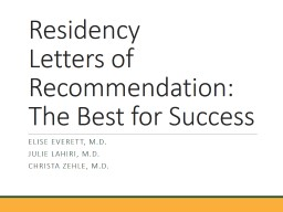 Residency Letters of Recommendation: The Best for Success