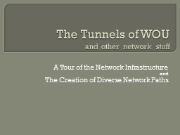 The Tunnels of  WOU and other network stuff