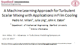 A Machine Learning Approach for Turbulent Scalar Mixing with Applications in Film Cooling