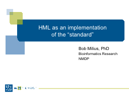 HML as an implementation