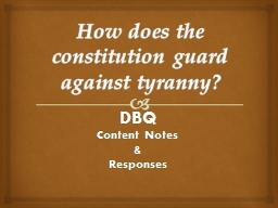 How does the constitution guard against tyranny?