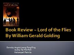 Book Review ~ Lord of the Flies