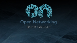 ONUG Open Networking Use Cases