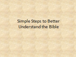 Simple Steps to Better Understand the Bible