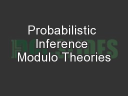 Probabilistic Inference Modulo Theories