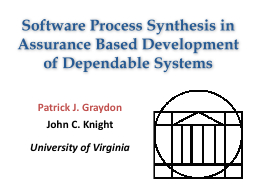 Software Process Synthesis in