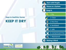 Keep it dry Steps to Healthier Homes