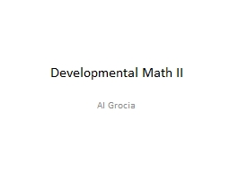 Developmental Math II Al