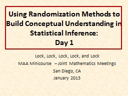 Using Randomization Methods to Build Conceptual Understanding in Statistical Inference: