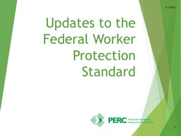 Updates to the Federal  Worker Protection